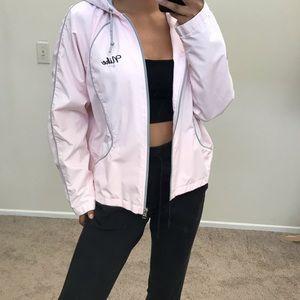 Baby pink Nike Windbreaker jacket